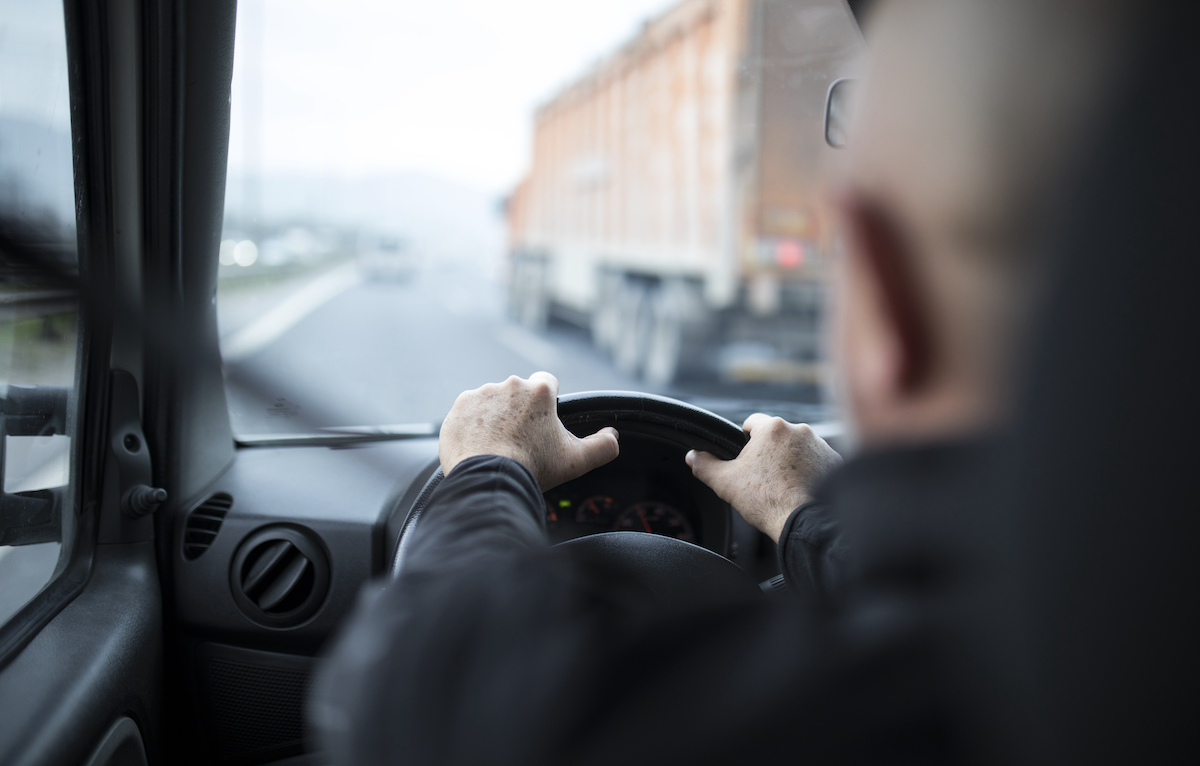Driver in a fleet vehicle